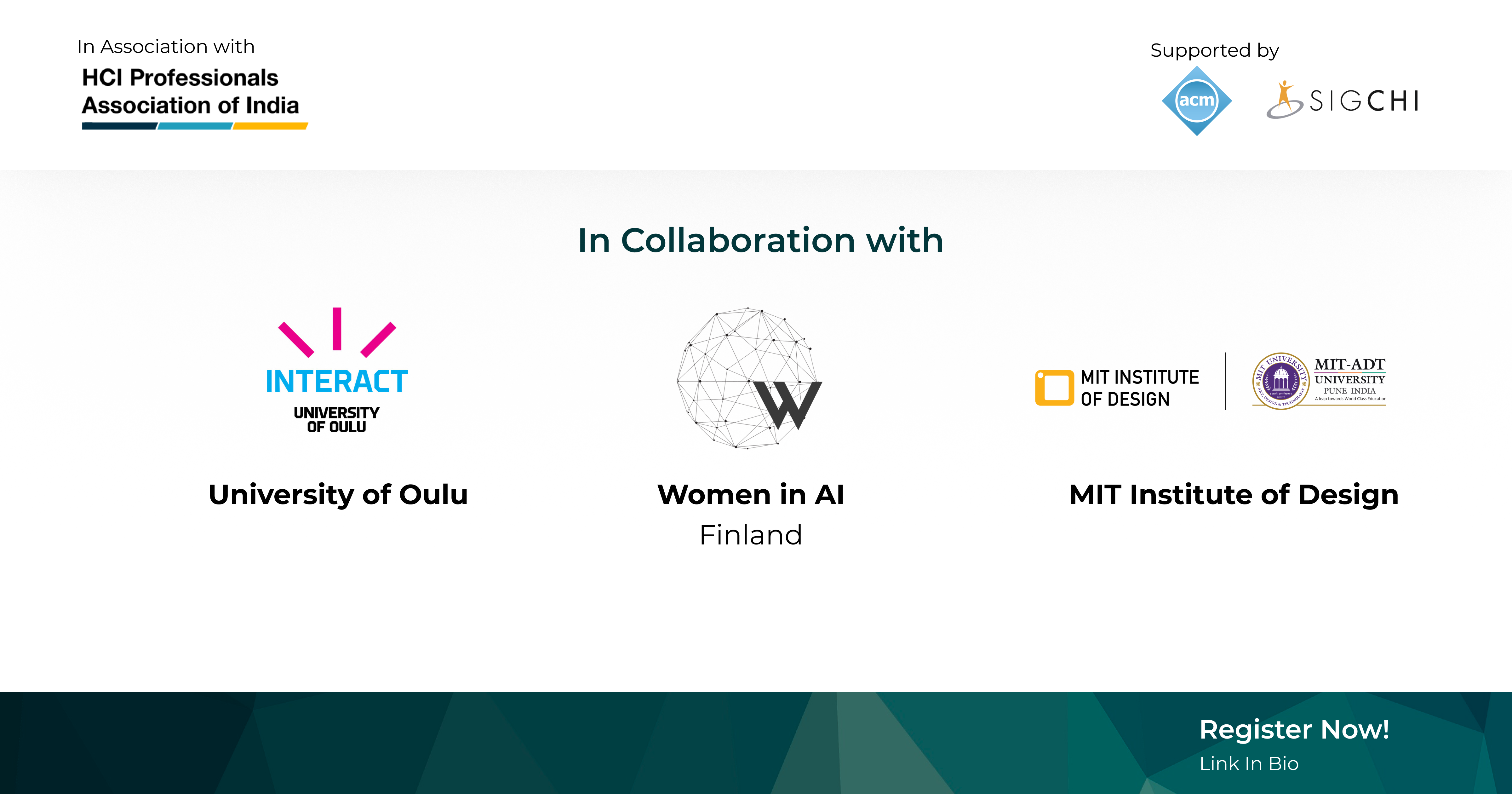 HCI4SouthAsia (HCI4SA) and India HCI 2021 Prelude will host the second Seminar on AI4NB in collaboration with the University of Oulu, Women in AI in Finland, MIT Institute of Design & UNICEF Finland